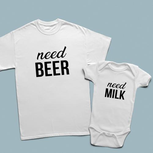 Need beer and need milk baba çocuk set