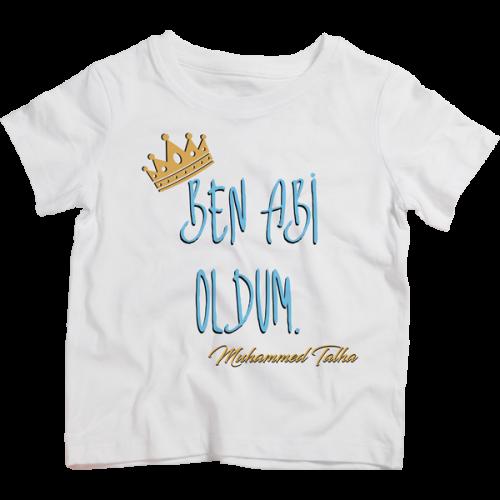 Ben Abi Oldum Baskılı İsme Özel Çocuk Tshirt